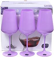 Набор бокалов Bohemia Crystal Sandra Purple 40728/D5124/450 (6шт) -
