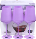 Набор бокалов Bohemia Crystal Sandra Purple 40728/D5124/450 (6шт) -
