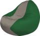 Бескаркасное кресло Flagman Classic К2.1-61 (серый/зеленый) -