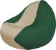 Бескаркасное кресло Flagman Classic К2.1-62 (светло-бежевый/зеленый) -