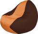 Бескаркасное кресло Flagman Classic К2.1-64 (оранжевый/коричневый) -