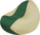 Бескаркасное кресло Flagman Classic К2.1-82 (зеленый/светло-бежевый) -