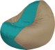 Бескаркасное кресло Flagman Classic К2.1-138 (бирюзовый/темно-бежевый) -