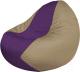 Бескаркасное кресло Flagman Classic К2.1-141 (фиолетовый/темно-бежевый) -