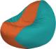 Бескаркасное кресло Flagman Classic К2.1-142 (оранжевый/бирюзовый) -
