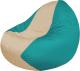 Бескаркасное кресло Flagman Classic К2.1-143 (светло-бежевый/бирюзовый) -