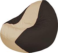 Бескаркасное кресло Flagman Classic К2.1-152 (светло-бежевый/коричневый) -