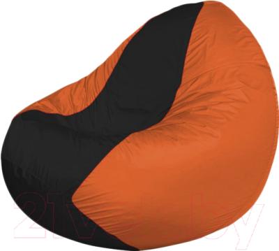 Бескаркасное кресло Flagman Classic К2.1-165 (черный/оранжевый)