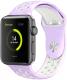 Ремешок для умных часов Miru 4040 Nike для Watch SJ-03 (силиконовый, светло-фиолетовый/белый) -