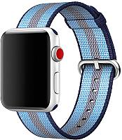 Ремешок для умных часов Miru 4049 для Watch SN-02 (нейлон полоска, синяя полоса) -
