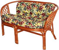 Диван садовый Мир Ротанга Багама 01/17С (коньяк) -