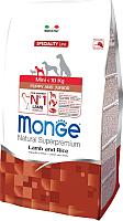 Корм для собак Monge Speciality Mini Puppy&Junior Lamb&Rice (2.5кг) -