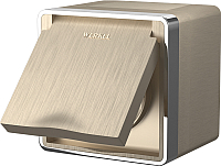 Розетка Werkel Gallant WL15-02-04 / a041420 (шампань рифленый) -