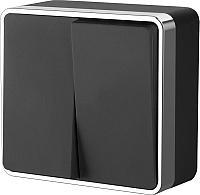 Выключатель Werkel Gallant WL15-03-01 / a041700 (черный/хром) -