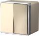 Выключатель Werkel Gallant WL15-03-02 / a041422 (шампань рифленый) -