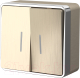 Выключатель Werkel Gallant WL15-03-03 / a041423 (шампань рифленый) -