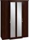 Шкаф Глазов Montpellier 1 4-х дверный (орех шоколадный) -
