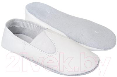 Чешки No Brand 3234 (р-р 33, кожа, белый)