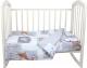 Комплект постельный в кроватку Alis Лесные зверята 3 (бязь) -