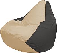 Бескаркасное кресло Flagman Медиум Г1.1-134 (светло-бежевый/тёмно-серый) -