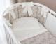 Комплект постельный в кроватку Perina Эльфетто Oval / ЭФО6.2 (молочный/белый) -
