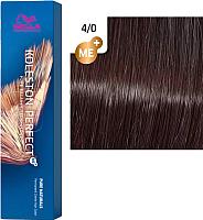 Крем-краска для волос Wella Professionals Koleston Perfect ME+ 4/0 (коричневый натуральный) -