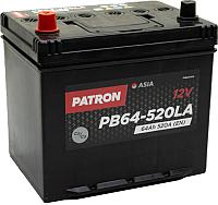 Автомобильный аккумулятор Patron Asia PB64-520LA (64 А/ч) -
