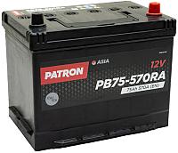 Автомобильный аккумулятор Patron Asia PB75-570RA (75 А/ч) -