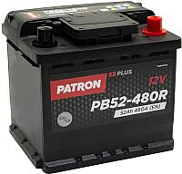 Автомобильный аккумулятор Patron Plus PB52-480R (52 А/ч) -