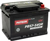 Автомобильный аккумулятор Patron Plus PB57-540R (57 А/ч) -