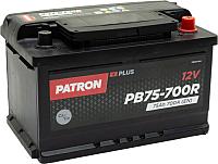 Автомобильный аккумулятор Patron Plus PB75-700R (75 А/ч) -