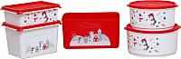 Набор контейнеров для хранения Berossi Christmas Б3 (5шт, роза) -
