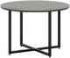 Журнальный столик МСТ. Мебель Лайн №5 (рич блэк/черный каркас) -