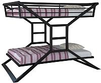 Двухъярусная кровать Грифонсервис КД1 (черный) -