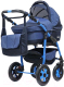 Детская универсальная коляска Bart-plast Fenix Pcof 3 в 1 (01/темно-синий) -