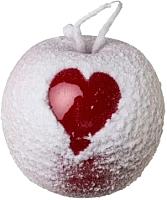 Елочная игрушка Gasper Яблоко с сердцем / 1019582-01 (красный/белый) -