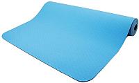 Коврик для йоги и фитнеса Torres Comfort 4 / YL10064 (синий/серый) -