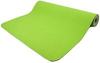 Коврик для йоги и фитнеса Torres Comfort 4 / YL10074 (зеленый/серый) -