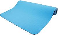 Коврик для йоги и фитнеса Torres Comfort 6 / YL10086 (синий/серый) -