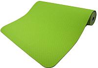 Коврик для йоги и фитнеса Torres Comfort 6 / YL10096 (зеленый/серый) -