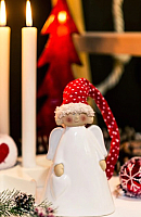 Статуэтка Gasper Ангел в шапочке / 5019602-01 (красный/белый) -