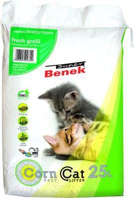Наполнитель для туалета Super Benek Corn Cat Свежая трава