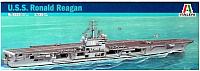 Сборная модель Italeri Американский авианосец U.S.S. Ronald Reagan CVN-76 1:720 / 5533 -