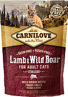 Корм для кошек Carnilove Lamb & Wild Boar for Adult Cats Sterilised / 512324 (400г) -