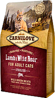 Корм для кошек Carnilove Lamb & Wild Boar for Adult Cats Sterilised / 512317 (2кг) -