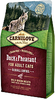 Корм для кошек Carnilove Duck & Pheasant for Adult Cats Hairball Control / 512348 (2кг) -