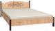 Каркас кровати Глазов Adele 1 180x200 (дуб сонома/орех шоколадный) -