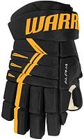 Перчатки хоккейные Warrior ALPHA DX4 / DX4G9-BKS11 (черный/золото) -