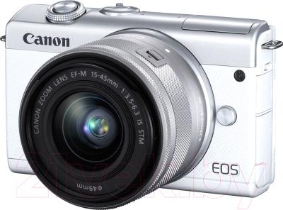 Беззеркальный фотоаппарат Canon EOS M200 EF-M IS STM Kit 15-45mm / 3700C010 фотоаппарат canon eos m50 kit ef m 15 45mm f 3 5 6 3 is stm white 2681c012