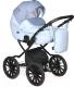 Детская универсальная коляска INDIGO Mio Plus 14 2 в 1 (Mi 05, светло-голубая кожа/голубой узор) -